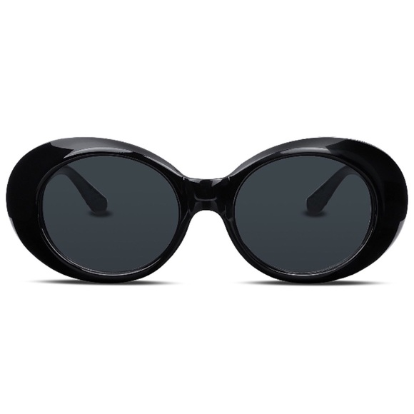 80127b948467 Sunny Spex Accessories | Jackie O Black Sunglasses Oversized Clout ...